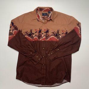 Vintage Roper Pearl Snap Western Cowboy Shirt